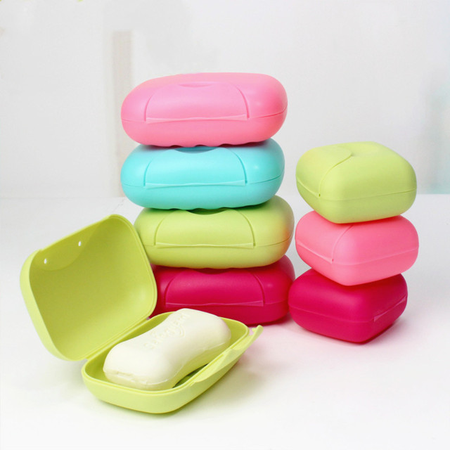 735dedcba963 US $0.24 15% OFF|1Pc Big Size Bathroom Soap Dishes Box Portable Plate Case  For Home Shower Travel Hiking Soap Holder Container Soap Boxes-in Portable  ...