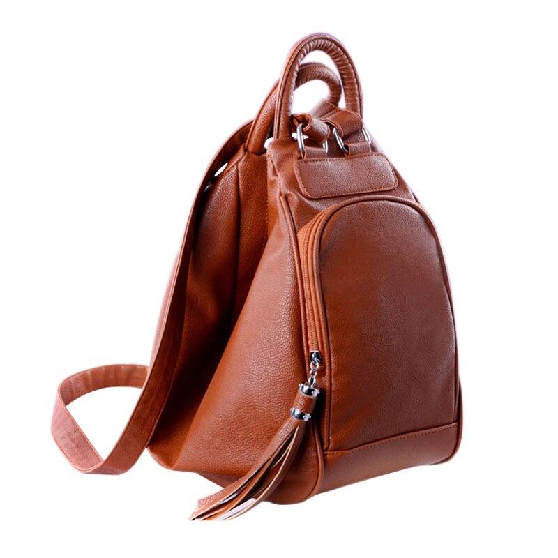 0020e9a96d4a Винтаж Женщины кисточкой сумка кожаные рюкзаки женские Путешествия сумка  Школьный рюкзак школьные сумки для Обувь для девочек Mochila Escolar