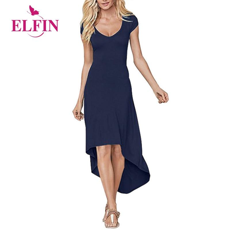 Fashion Long Dress Casual Women Sexy Backless Irregular Hem Short Sleeve Elegant Dress Plus Size WS8154R