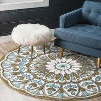 Круглые цветочный утолщаются пастырской ковер, большие размеры журнальный столик ковер, Богемия стиль украшения дома прикроватный коврик