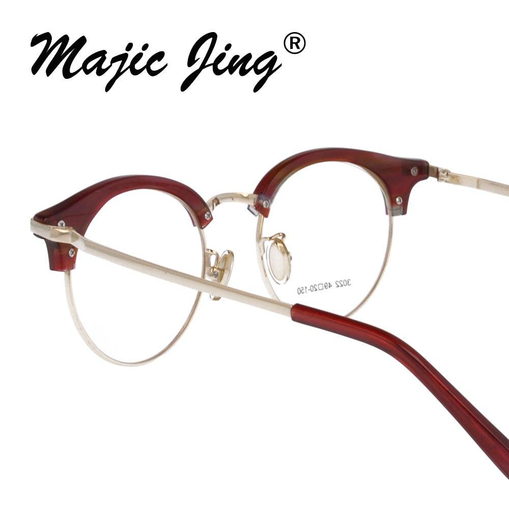 1c2e567e2f8b3 Magia Jing + Acetato armações miopia óculos óculos RX de combinação de aço  inoxidável unisex gm3022 em Armações de óculos de Acessórios de vestuário  no ...