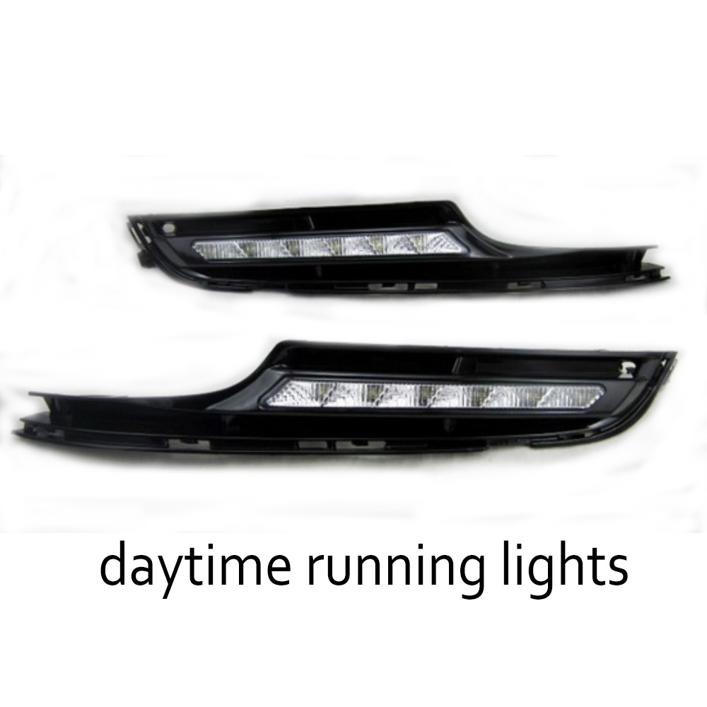1 pair auto fog lamp cover car Accessories LED Daytime running lights DRL Car-styling for V/olkswagen G/olf 7 2014-2015