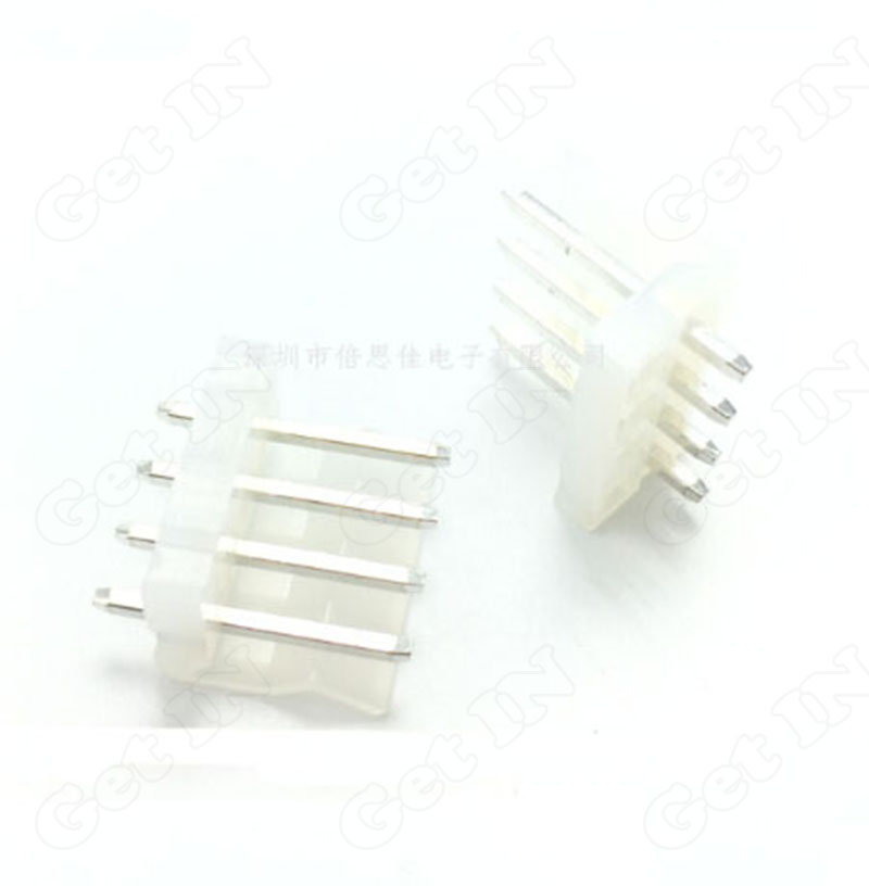 200pcs-2003.96-4P Straight Pins 4A 3.96MM Spacing Foot Terminal Connector Sockect