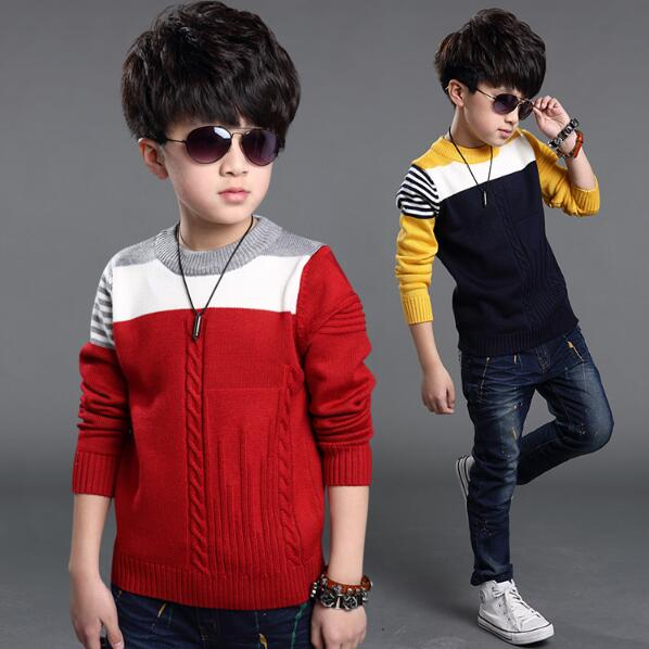 New 2018 Autumn Winter Kids Boys Sweater 4 to 13 Years Children Sweater Children Outerwear Sweater Long Sleeve Kids Sweater snowflake long sweater