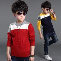 New 2016 Autumn Winter Kids Boys Sweater 4 To 13 Years Children Sweater Children Outerwear Sweater