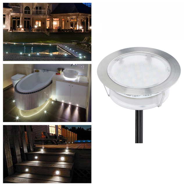 DC12V 2.5W LED Stair Lights IP67 SMD3528 LED Patio Lighting Garden Floor  Lamps For Decoration
