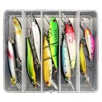 10Pcs/5Pcs Fishing Lures Lot Set Minnow/VIB/Pencil Fish Lure Box Hook Isca Artificial Bait Kit