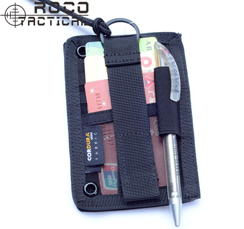 Military Army ID Cards Pass Holder VIP Pass Badge Holder With Lanyard Travel Document Holder Organizer 3 Slots+1 Pen Pocket