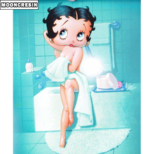 New Products 2019 Diamond Embroidery 5D Diy Painting Betty Boop Cross Stitch Rhinestone By Numbers Decor Home