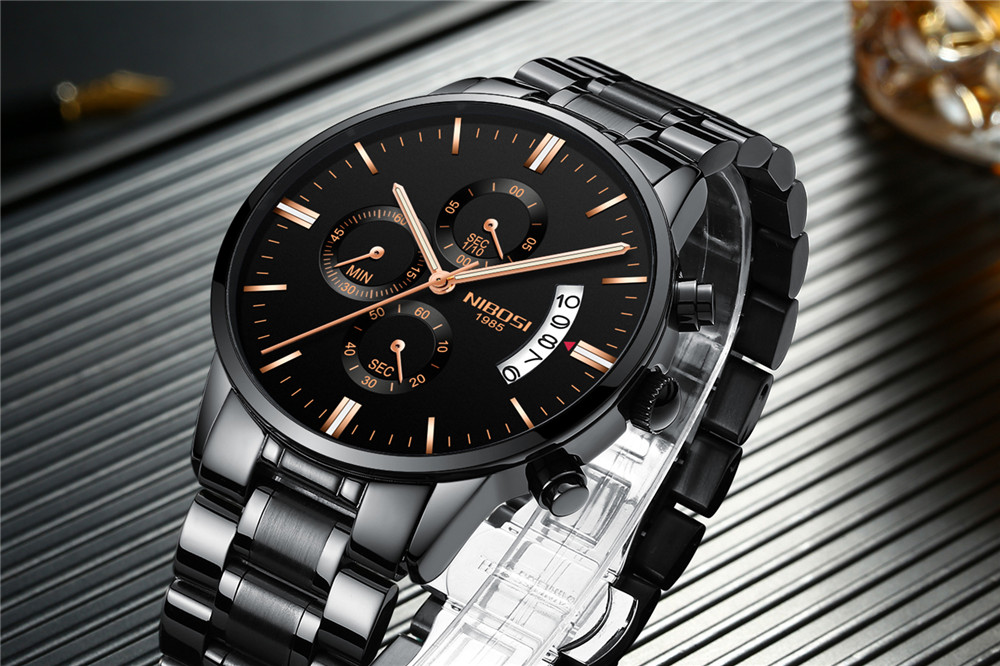 a2181512ee10 Reloj Masculino NIBOSI Reloj Masculino dorado negro para Hombre relojes  deportivos de lujo de marca superior Reloj 2019 Reloj impermeable para  Hombre