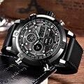 Мужские наручные часы  люксовый бренд  двойной хронограф  цифровые спортивные военные часы  кварцевые часы  мужские наручные часы  Relogio Masculino