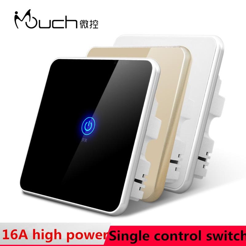 UK standard touch switch panel 1gang1way single control sensor glass wall Intelligent waterproof - Wei ka wei Store store