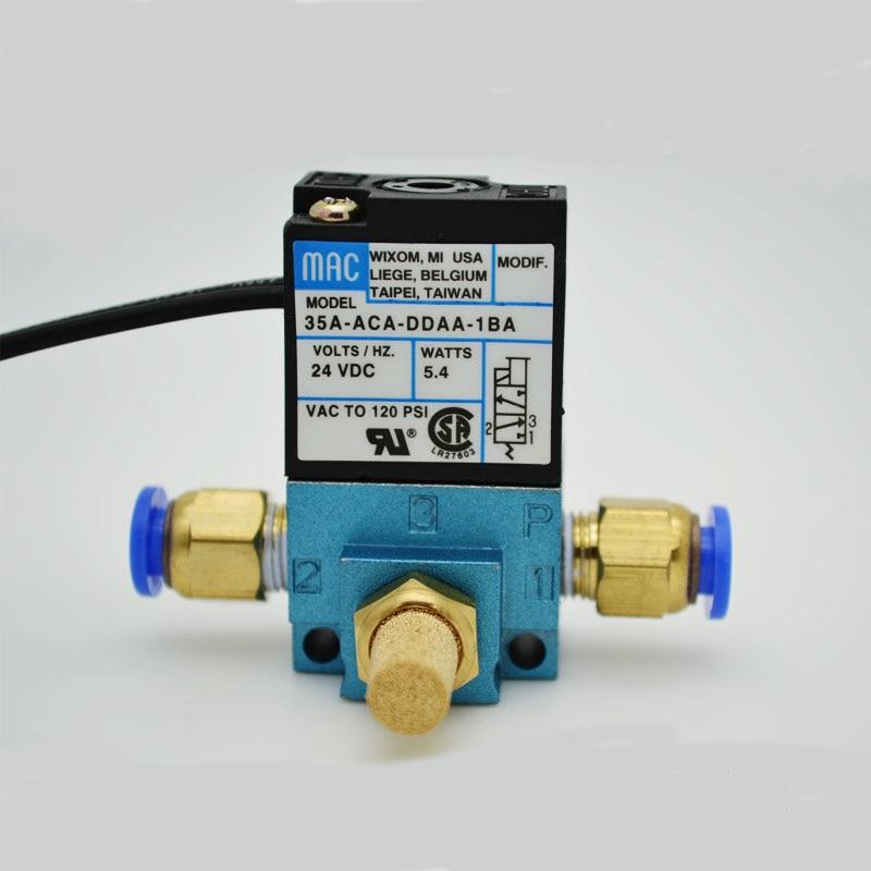 3 Way High Frequency Solenoid Valve 1/8 Thread 12V 24V DC 35A-ACA-DDAA-1BA/DDBA/DDFA MAC Marking Dispensing Machine Valve
