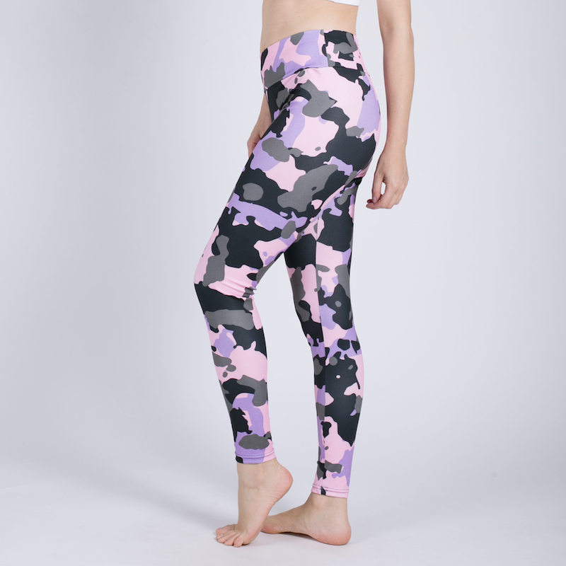 2019 Women Printing Camouflage Jeggings High Waist Breathable Pants Polyester Soft Breathable Nine Points Push Up Sexy Leggings 1