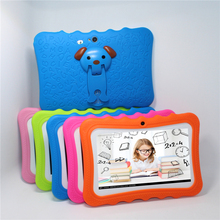 Cheaper Kids Design Tablet PC 7″ Quad Core tablet Android 4.4 Allwinner A33 4GB/8GB Wifi IPS study PAD 1024*600 Gift protective Cover