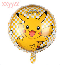 XXYYZZ Globos Pokemon Foil Balloons Inflatable Toys Helium Balloon Kids Classic Toys Happy Birthday Balloons Party Supplies стоимость
