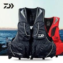 DF6305 Windproof Fly Fishing Vest Life Clothing Vest Detachable Breathable Lifejacket Oversized Buoyancy daiwa men fishing shirt