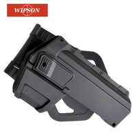 WIPSON Tactical Movable Pistol Holsters For G18 With Flashlight Or Laser Mounted Glock Series Right Hand Waist Gun Holster