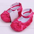 1 Pairs Baby Shoes prewalker infant sapatos Newborn summer girl anti-slip kids first walker lace flower bowknot firls shoe