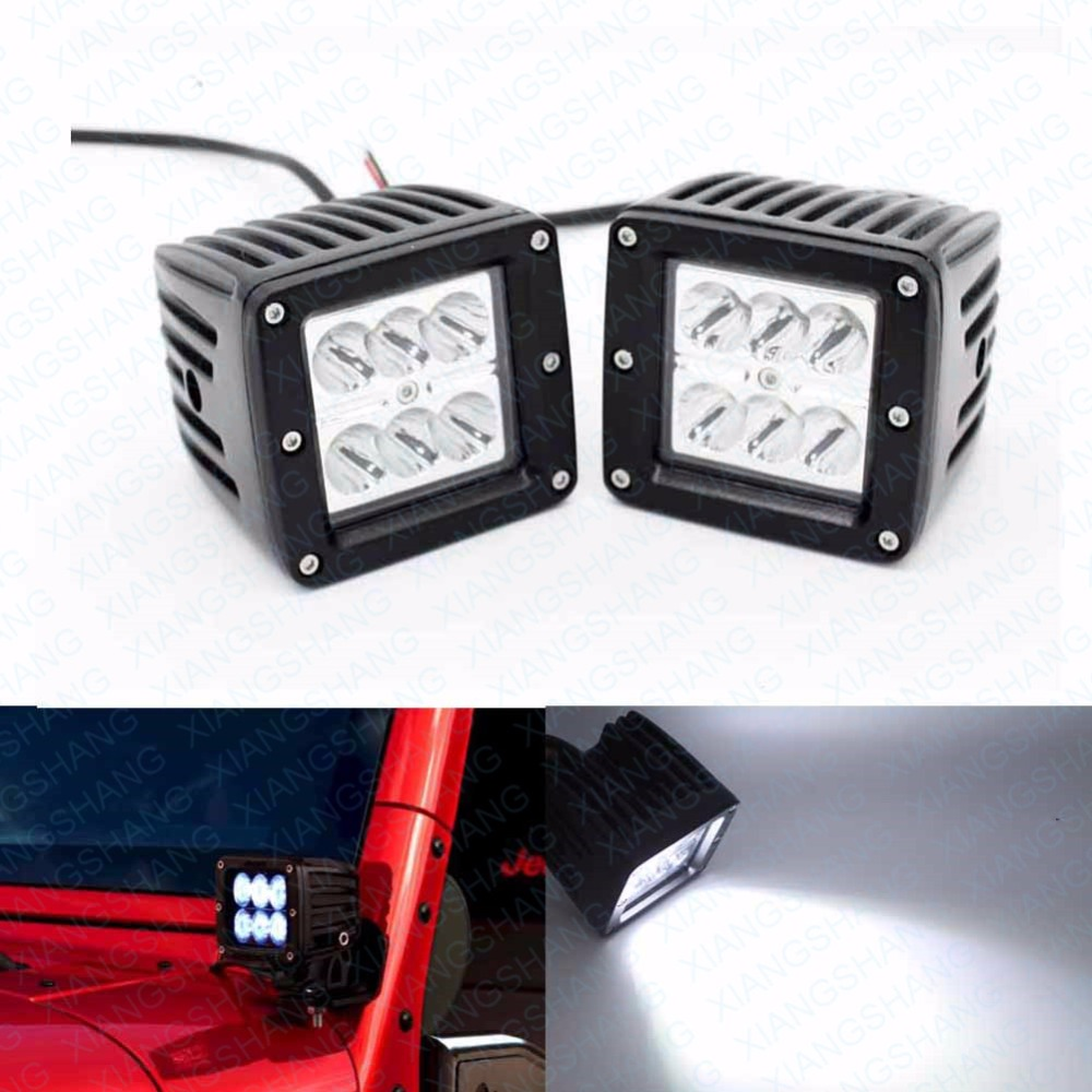 2Pcs 3 inch Spot Car Headlight LED Work Light Bar Off Road Driving Lamp for 12V Truck Motorcycle Boat Tractor Camper RZR Lightin 2pcs dc9 32v 36w 7inch led work light bar with creee chip light bar for truck off road 4x4 accessories atv car light
