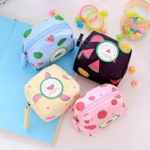 Hot sale Cute PU Coin Purses Cartoon Lovely Waterproof Mini Storage Bags For Cardholder In-ear Headphone cute small purse 9x8cm