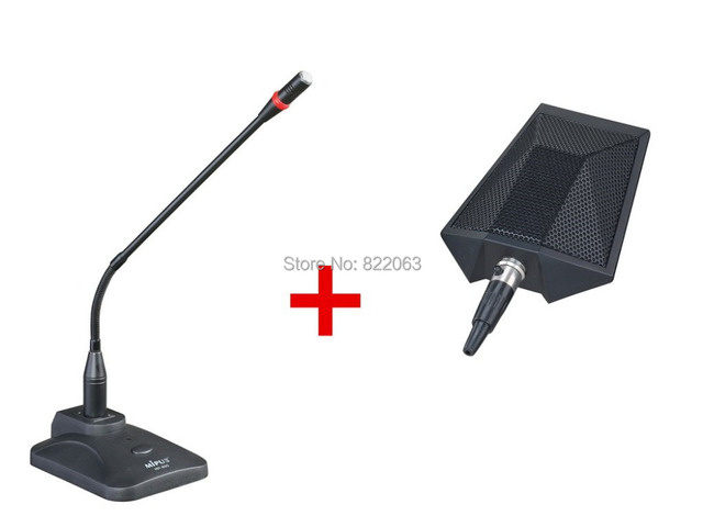 Free Shipping Pro Value Condenser Meeting Conference Microphone + Amplifier Wired Suit XLR for Seminar & Conference Mic
