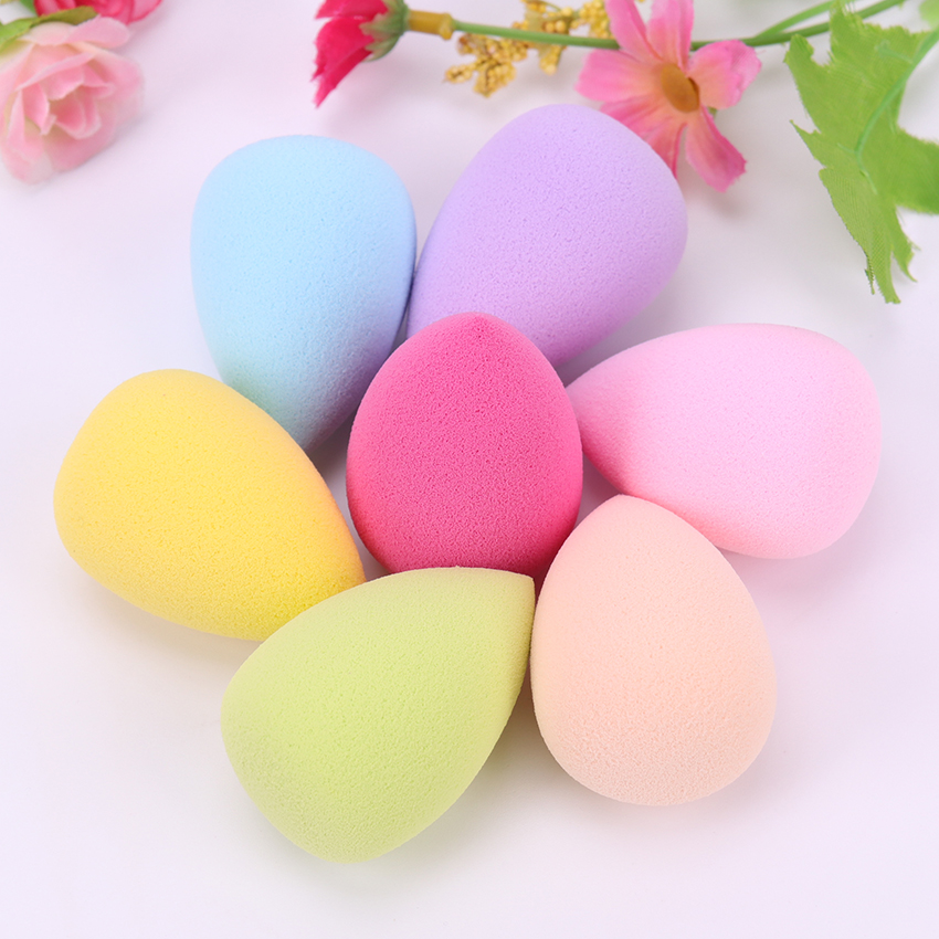 1PC Smooth Cosmetic Puff Dry Wet Use Makeup Foundation Sponge Beauty Face Care Tools Accessories Water Drop Shape in Cosmetic Puff from Beauty Health
