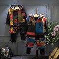 2016 новые зимние дети ребенок шерсть кашемир плюс трех частей дети цвет толстый костюм бесплатная доставка
