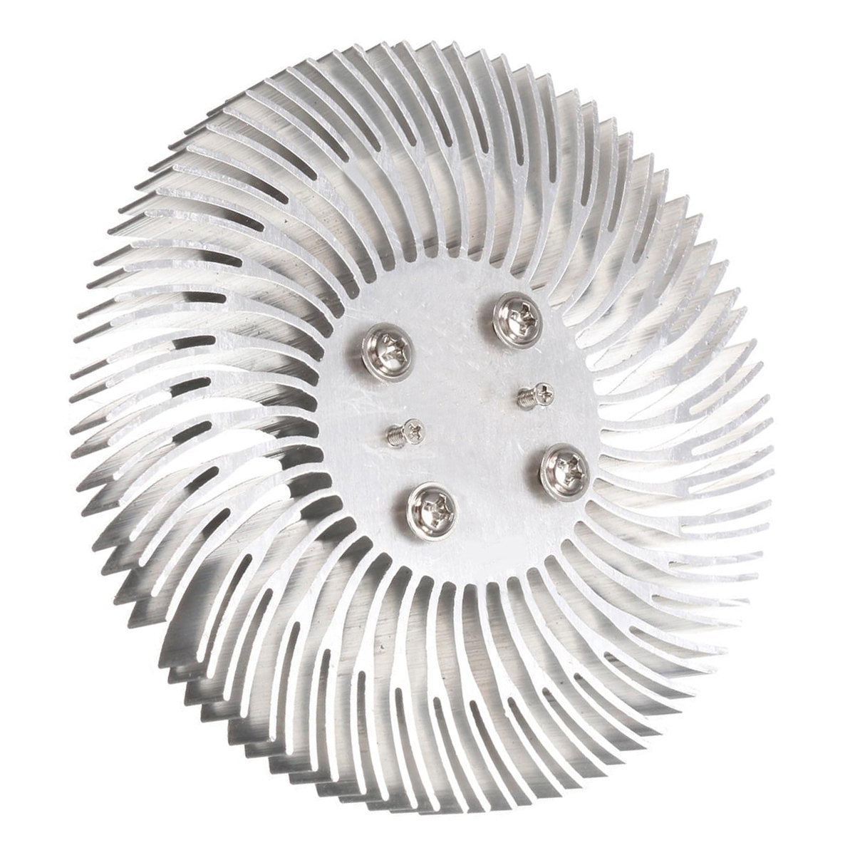 1pc Round Spiral Aluminum Heatsink Cooler Heat Sink Radiator Cooling Fin 90*10mm For 10W High Power LED Lamp With Screws Mayitr 2017 new 150x80x20mm pure copper heatsink radiator skiving fin heat sink for electronic chip led power amplifier cooling cooler