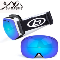 UV400 Snowboard Ski Goggles Double Layer Lens Anti Fog Big Ski Mask Glasses Men Women Snow Fly Skiing Goggles antiparras ski uv