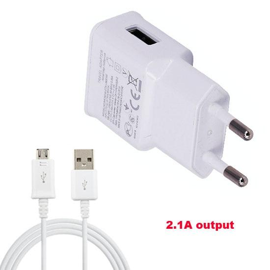 2A Adaptador de EE. UU. De la UE Cargador de teléfono móvil + Cable - Accesorios y repuestos para celulares - foto 3
