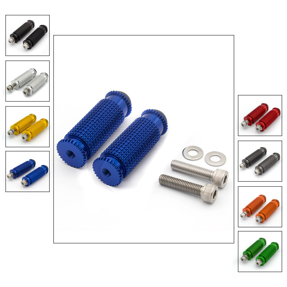 8mm CNC Footpegs Foot Pegs Footpeg Motorcycle Foot Footrest Foot Pegs Pedal Universal For Yamaha YZF R1 R6 R3 R15 MT07 MT09 R125