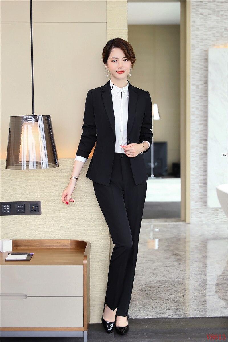 Signore Delle Elegante Abiti Donne Di grey Convenzionale Del Set Nero Blazer Mutanda Nero Pantaloni 2 Giacca Vestito 2019 Scuro Il Affari Giacche Ufficio Pezzo 5q4YwwX