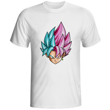 Super Saiyan Rose VS Blue Hair T Shirt Goku Anime Design Creative T-shirt Fashion Novelty Style Cool Top Tshirt