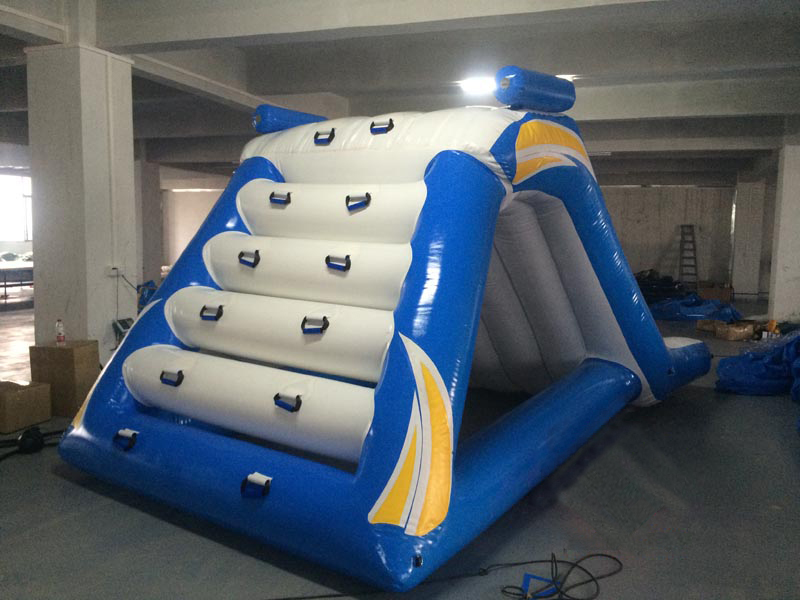 inflatable combo slide and climbing wall water fun games,inflatable water play equipment YLW W1511
