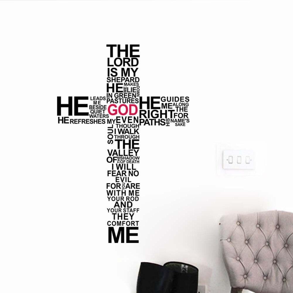 Google chrome themes jesus christ - Factory Price Cartoon Typography Christian God Cross Wall Art Sticker Decal Jesus Christ Psalm Pray Bible