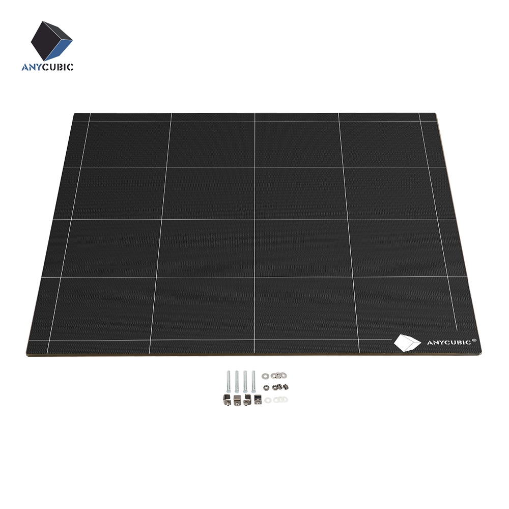 ANYCUBIC Chiron 3D Printer Heatbed Ultrabase Hotbed Platform Plate Easy Remove Square 430x410x4mm 12V 24V High