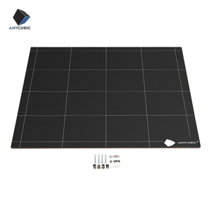 Image 1 - ANYCUBIC Chiron 3D Printer Heatbed Ultrabase Hotbed Platform Plate Easy Remove Square 430x410x4mm 12V/24V High Quality