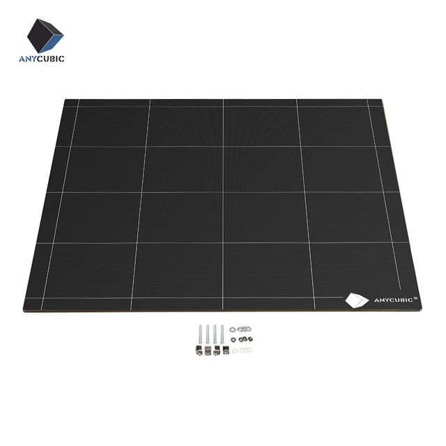 ANYCUBIC Chiron 3D Printer Heatbed Ultrabase Hotbed Platform Plate Easy Remove Square 430x410x4mm 12V/24V High Quality