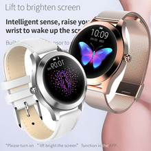 4a830c956feb4 IP68 Waterproof Smart Watch Women Lovely Bracelet Heart Rate Monitor Sleep  Monitoring Smartwatch Connect IOS Android. 2 Colors Available