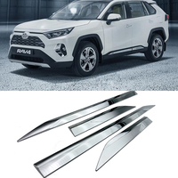 ABS Chrome Car Side Door Body Molding Trim Strips Fit For Toyota RAV4 RAV 4 2019 2020 Accessories