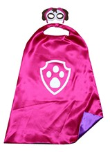 Dog Superhero Costume Kids Birthday Party Cape and Mask