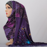 Women S Fashion Printe Solid Color Cotton Viscose Shawls Muffler Head Wrap Muslim Scarves Scarf M3541