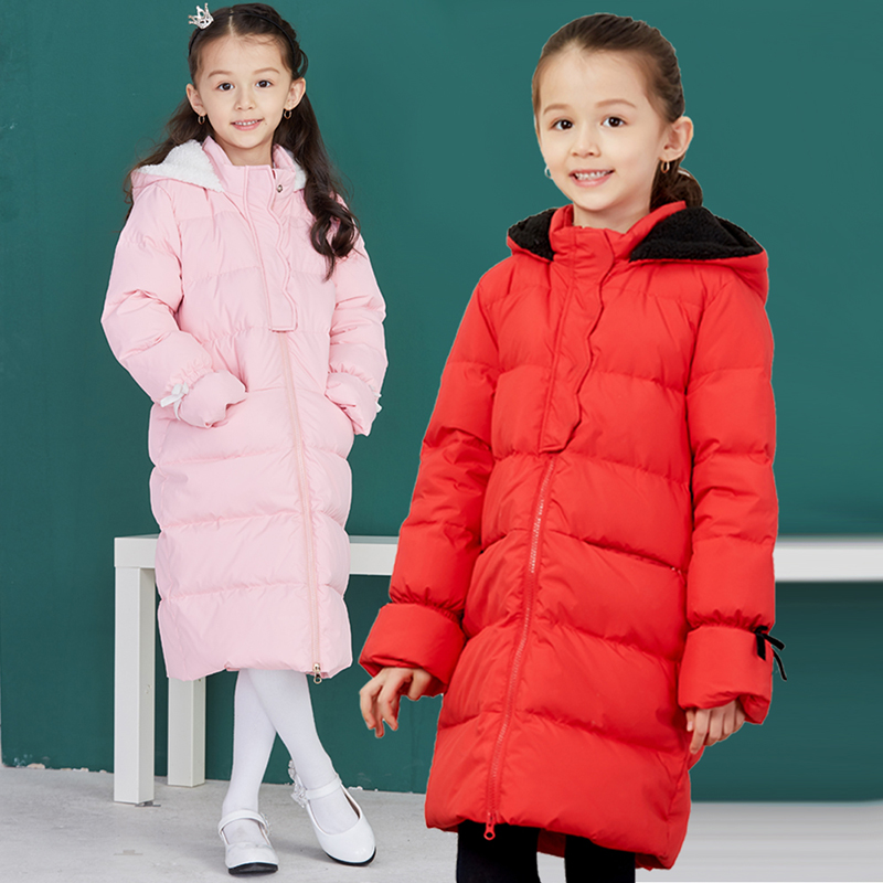 4af6e8f6a Girls Duck Down Parkas Winter Clothes Kids Warm Down Jackets For ...