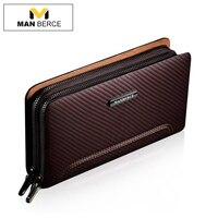 MANBERCE Men Clutch Bags Leather Wallet Man Purse Business Casual Men's Handbags Brand Mens Wallet Free Shipping