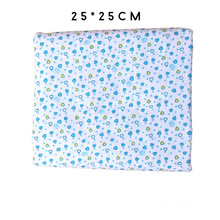 Urijk 7PCs Cotton Fabric Cloth Handmade Sewing Material Fabrics For Patchwork Curtains Blue Patchwork Accessories DIY 25x25cm