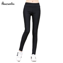 Woman Black and White Pencil Pants Elastic Waist Woman Slim Fit Ankle Length Pants Fashion Pants Female Spring New WN 11-in Pants & Capris from Women's Clothing & Accessories on Aliexpress.com | Alibaba Group