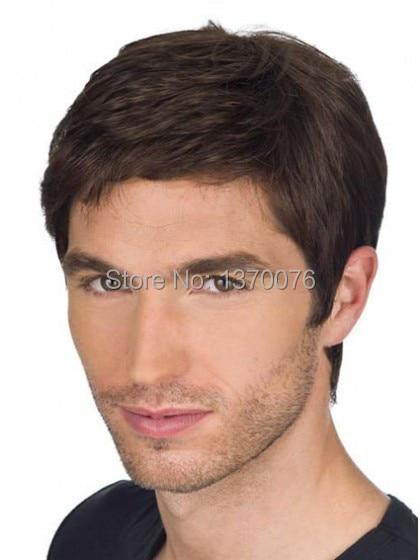c250383fb Pure Chic Cool Men's Full Lace Human Hair Wigs 110% Density Remy Brazilian  Hair Average Cap Size Wig Men Short Haircuts