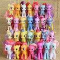 8 СМ мой радуга верховая игрушки украшения ПВХ Цифры пони Дети Кукла красочные модели девушки Рождество подарок на день рождения