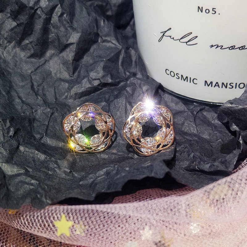 Klub Malam Glitter Kristal Geometris Bintang Anting-Anting untuk Wanita Emas Pentagram Anting-Anting Pesta Pernikahan Anting-Anting Perhiasan Brincos Hadiah